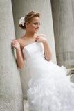 härlig brudklänningwhite Royaltyfria Bilder