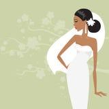 härlig brudklänningwhite också vektor för coreldrawillustration Royaltyfria Bilder