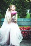 härlig brudstående Royaltyfri Fotografi