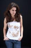 härlig brunett Royaltyfri Fotografi