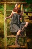 härlig brunett Royaltyfria Foton