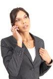 Härlig brunettaffärskvinna Arkivbilder