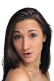 härlig brunettheadshot Arkivbild