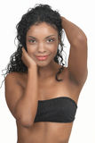 härlig brunettkvinna Arkivfoton