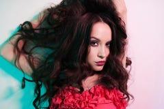 Härlig brunettkvinna Royaltyfri Fotografi