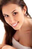 Härlig brunettkvinna i Spa Royaltyfria Bilder