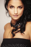 härlig brunettmodell Royaltyfri Fotografi