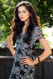 härlig brunettstående royaltyfri foto