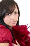 härlig brunettståendekvinna Fotografering för Bildbyråer