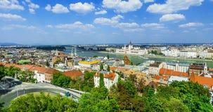 Härlig Budapest panorama Arkivbild