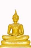 Härlig Buddha bild i Thailand en vit backgr Arkivbild