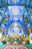 Härlig buddha bild i Wat Rong Sua Ten Temple Royaltyfria Bilder