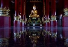 Härlig Buddha i Chiang Mai, Thailand Arkivfoto
