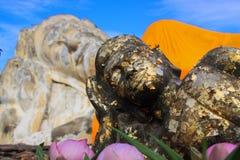 Härlig Buddhastaty Thailand Arkivbilder