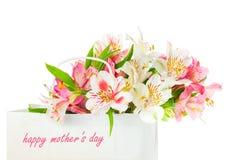 Härlig bukett av blommor för moders dag royaltyfria foton