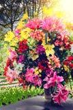 Härlig bukett av olika blommor royaltyfria bilder