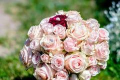 Härlig bukett, brud- bukett, blommor av bruden arkivbild