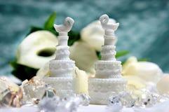Härlig bukett och andra bröllopgarneringar Arkivfoton