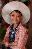 Härlig Burmese flicka Arkivfoto