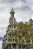 Härlig byggnad i Barcelona Arkivfoton