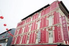 Härlig byggnad på chinatown, singapore royaltyfria foton