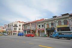 Härlig byggnad på chinatown, singapore arkivfoto