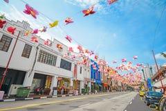 Härlig byggnad på chinatown, singapore royaltyfria bilder