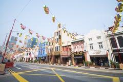 Härlig byggnad på chinatown, singapore royaltyfri fotografi