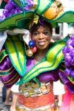 härlig carnaval flickasommar Arkivfoto
