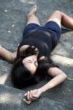 härlig caucasian kvinna fotografering för bildbyråer