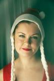 härlig caucasian kvinna arkivfoto