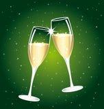 härlig champagnerostat bröd stock illustrationer