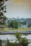 Härlig cityscape i sommar Arkivfoton