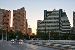 Härlig cityscape i Valencia arkivfoto