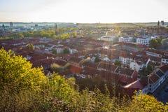 Härlig cityscape på soluppgång - Göteborg, Sverige Royaltyfri Fotografi