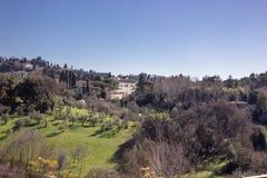 Härlig cityscapehorisont av Firenze Florence, Italien, Arkivfoto