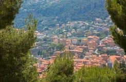 Härlig cityscapesemesterortVillefranche-sur-Mer arkivbilder