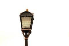 Härlig closeup för gatalampa, streetlight Arkivfoton