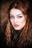 härlig closeupskvinna Royaltyfria Bilder