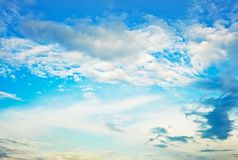 härlig cloudscape Royaltyfri Bild