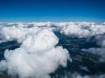 Härlig cloudscape i himlen Fotografering för Bildbyråer