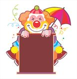 härlig clownillustration Royaltyfri Fotografi