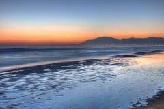 härlig costa del solenoid solnedgång för 2 Arkivfoton