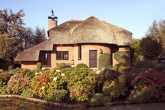 härlig countryhouse Arkivbild