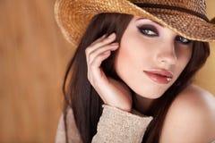 härlig cowgirl Royaltyfria Bilder