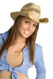 härlig cowgirl Arkivfoto