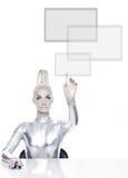 härlig cyberkvinna royaltyfri bild