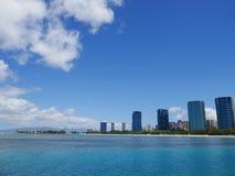 Härlig dag i Honolulu, Hawaii Arkivbilder