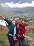 Härlig dag på Khazbegi Fotografering för Bildbyråer