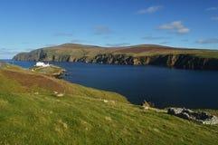 Härlig dag på Shetland öar Arkivbild